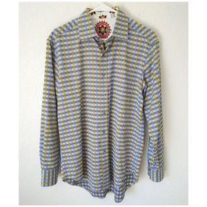 Robert Graham Plaid Embroidered Button Down Shirt